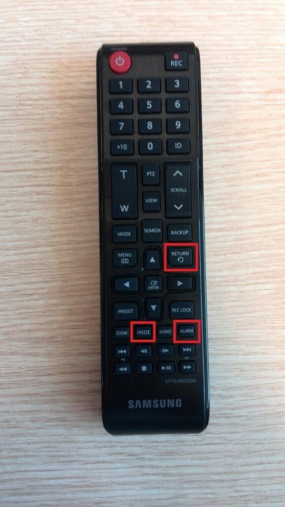 Samsung DVR Şifre Sıfırlama