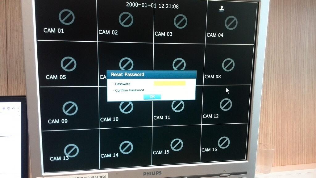 Samsung DVR Şifre Sıfırlama Ekranı