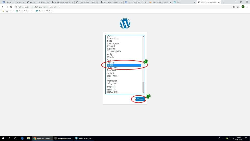 Wordpress Google Cloud kurulumu