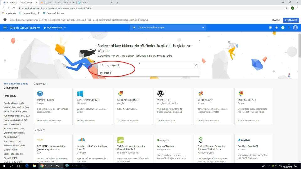 Google Cloud Cyberpanel kurulumu