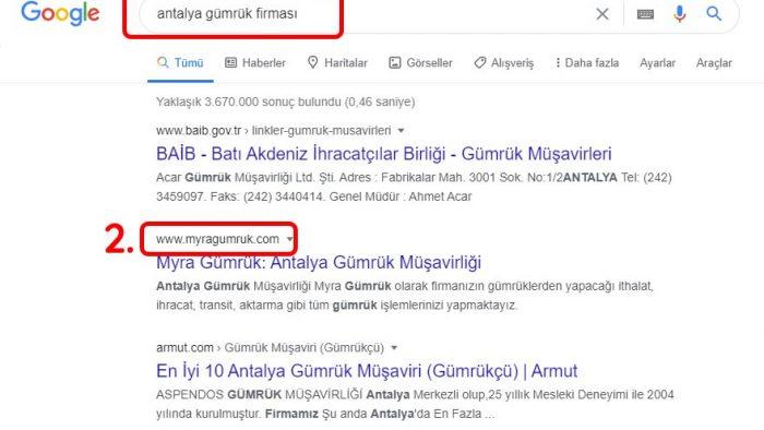 Antalya SEO Gümrük Firması