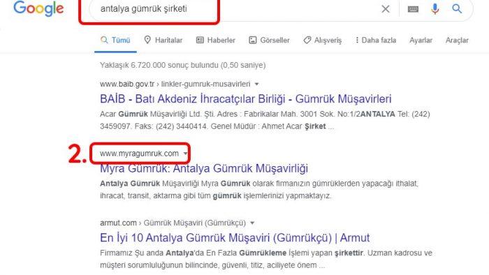 Antalya Gümrük Firması SEO Hizmeti