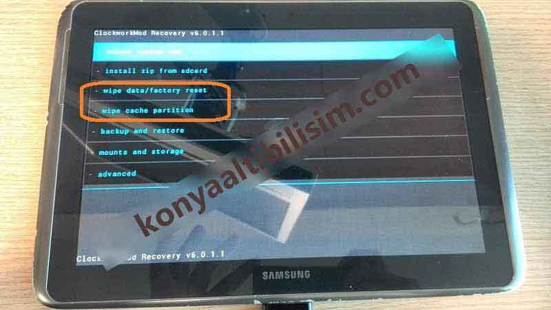 Samsung Note 10.1 Recovery Disk Wipe