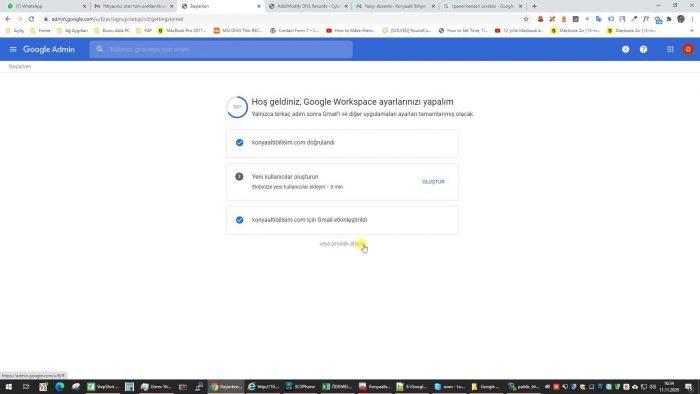 Gmail kurumsal etkinleştirme