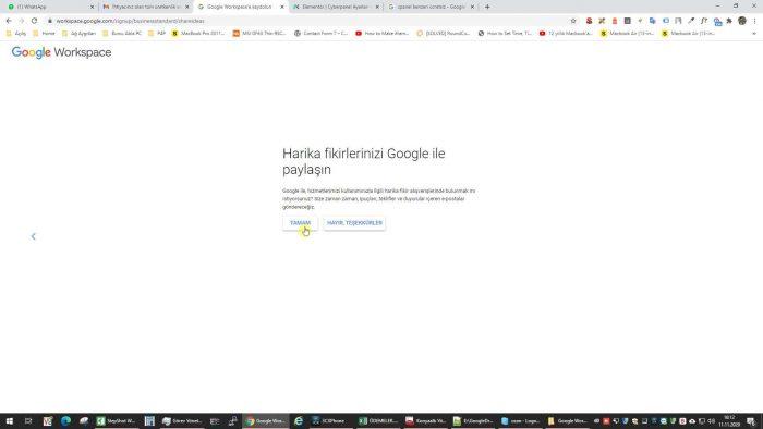 Google Workspace kullanımı
