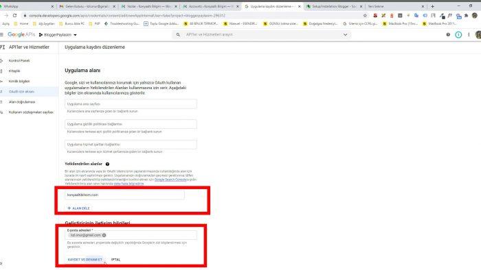 WordPress otomatik paylaşım Blogger ayarları