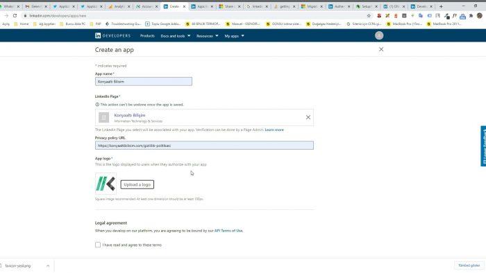 Wordpress otomatik paylaşım Linkedin ayarları