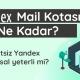Yandex mail kotası ne kadar